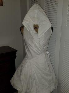 Hooded white dress
